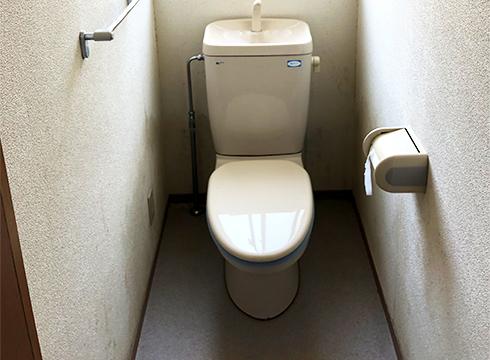 ごく普通の水洗式トイレです。